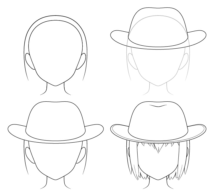 Gambar topi koboi anime selangkah demi selangkah