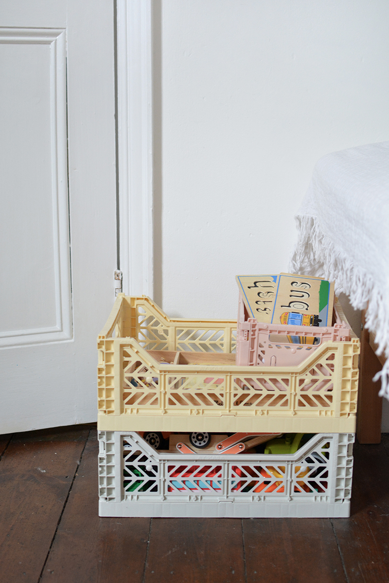 modern nursery storage crates