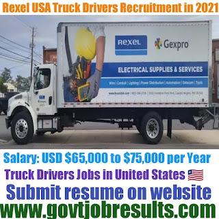 Rexel USA CDLA Truck Driver Recruitment 2021-22