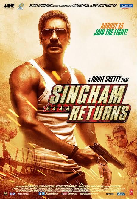 Singham Returns (2014) Hindi HD Movie 480p 720p