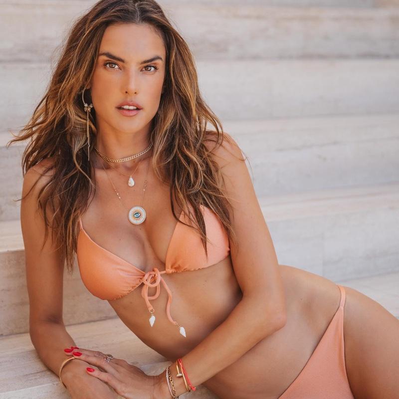 Alessandra Ambrosio models Gal Floripa swimwear.
