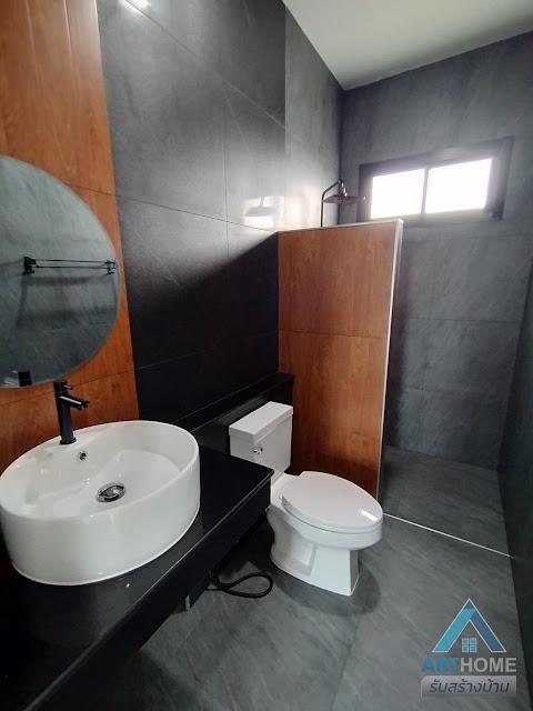 ห้องน้ำโทนสีเข้ม