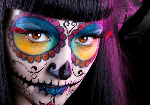 Maquillar en blanco primero para un color más intenso