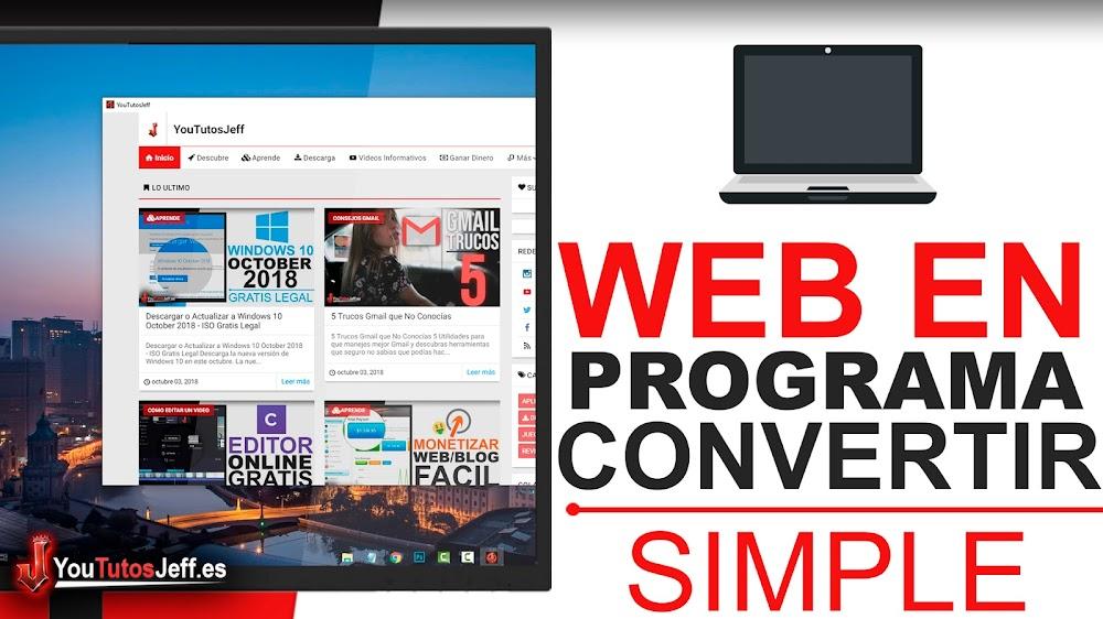 Convertir Pagina Web en Programa para Windows, Mac o Linux - Trucos Web