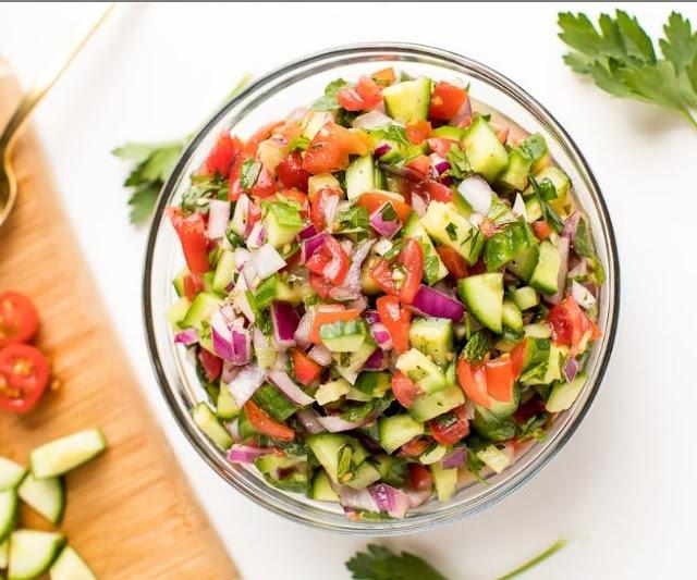Israeli Salad #vegetarian #healthy
