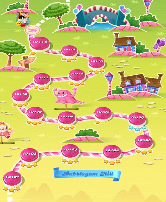Candy Crush Saga level 10101-10115