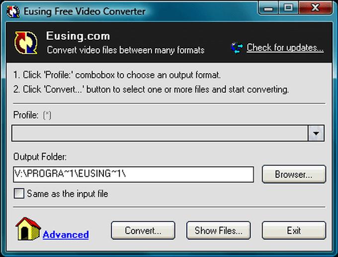 Eusing Free Video Converter 2.0 - Μετατρέψτε εύκολα τα βίντεό σας