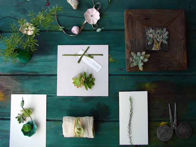 matrimonio green a tema botanico organico: partecipazioni, decorazioni