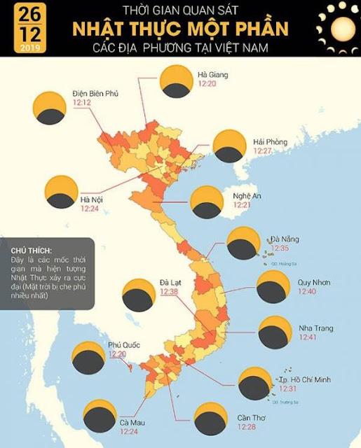 Trưa 26/12, hiện tượng thiên văn hiếm gặp Nhật thực sẽ xuất hiện trên bầu trời Việt Nam