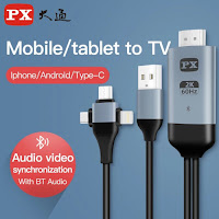 Cavo Audio Video 3 in 1 PX Micro USB tipo-c a Hdmi-proiezione cavo compatibile Iphone Android a TV/proiettore cavo Hdtv