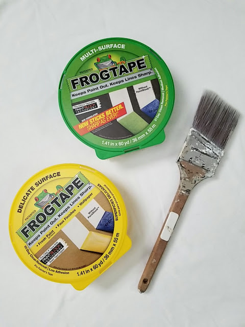 Frogtape and paint brush