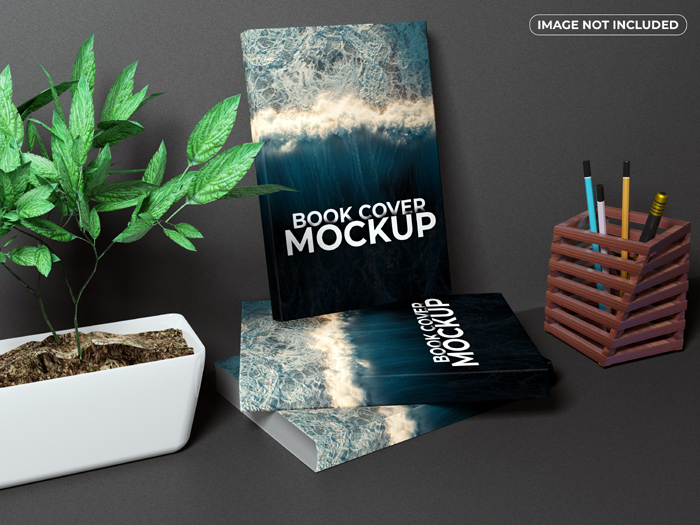 Realistic Books Front Cover Mockup Psd Free Download