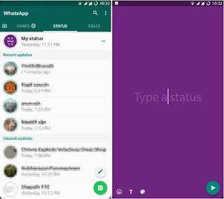 Status Whatsapp Berwarna Mirip dengan Status Facebook