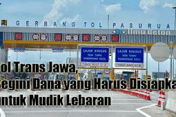 Tol Trans Jawa, Segini Dana yang Harus Disiapkan untuk Mudik Lebaran