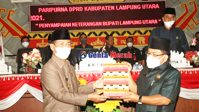 DPRD Lampura Gelar Paripurna Penyampaian APBD-P, Tanpa Kehadiran Ketua