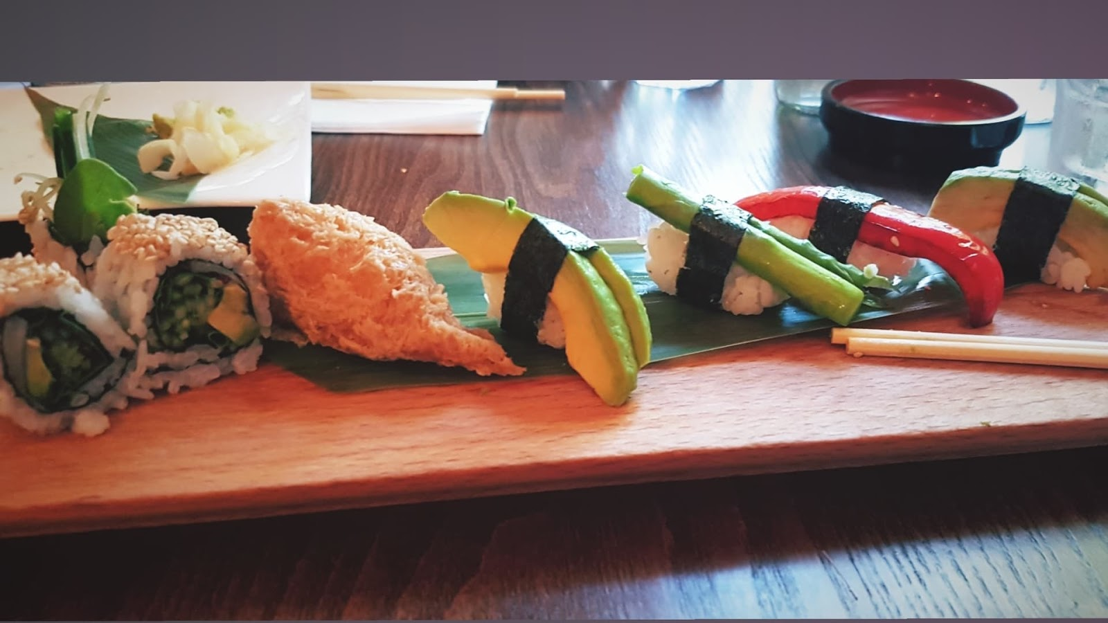 Shiki vegan sushi board - best Norwich vegan restaurants