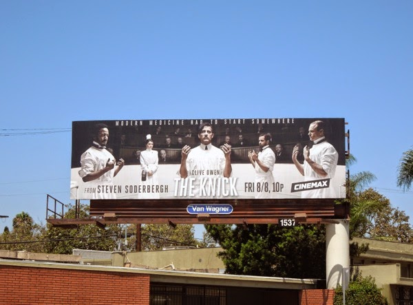 The Knick series launch billboard