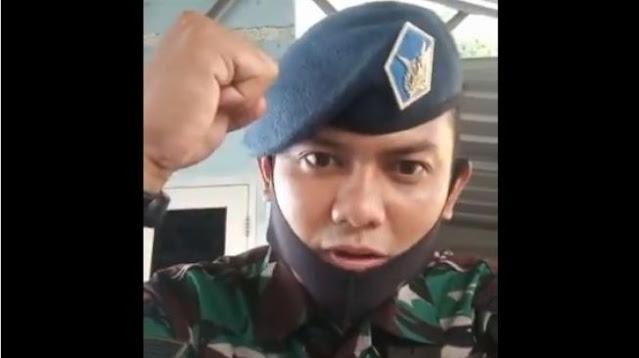 Giliran Prajurit TNI AU Sambut Habib Rizieq: Marhaban Pemimpin FPI, Allahu Akbar!