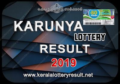 KARUNYA LOTTERY RESULTS 2019