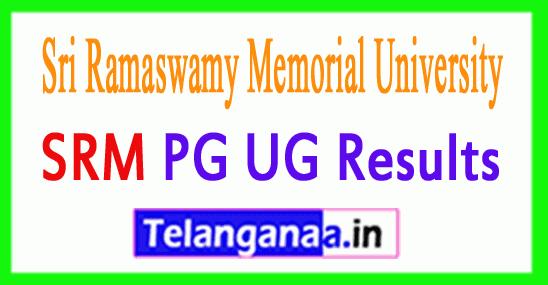 SRM University Result 2018 UG PG Results