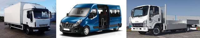 16 seater minibus and 7.5 tonne van and truck