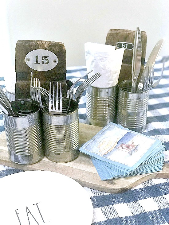 DIY Rustic Recycled Summer Picnic Caddiy