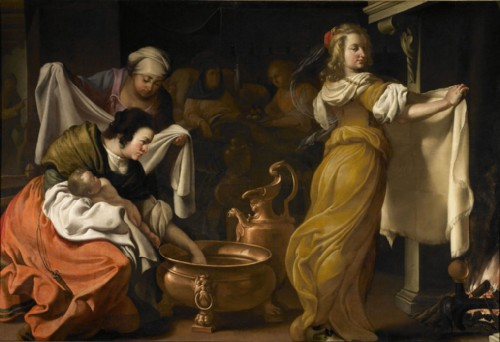 dipinto di luigi miradori detto il genovesino nascita della vergine