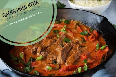 Gaeng Phed Neua (Red Curry With Beef)