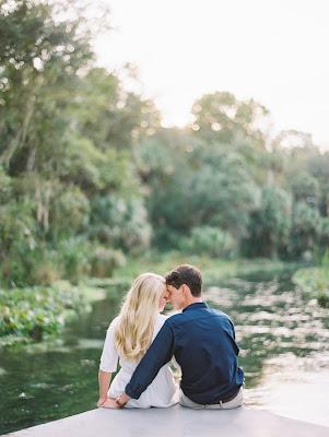 just engaged at the lake