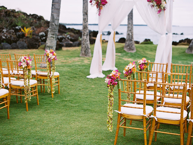 white orchid wedding house