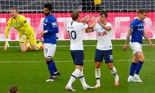 Tottenham 1-0 Everton: video highlights – as it happened