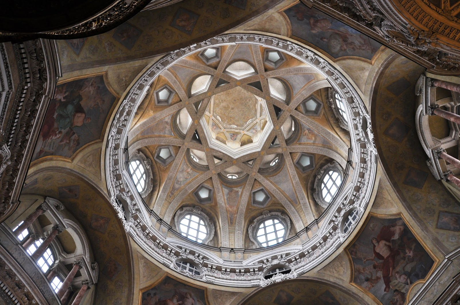 The dome of San Lorenzo Church, Turin, Italy
