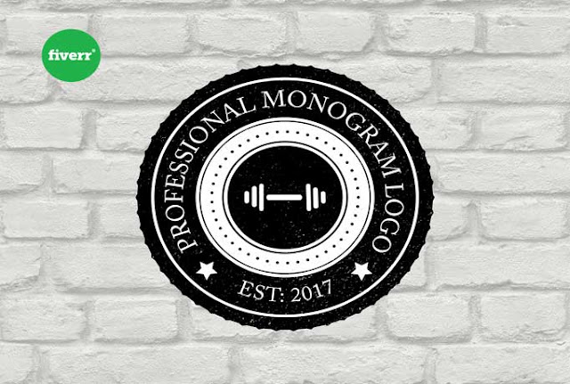 monogram logo, badge logo