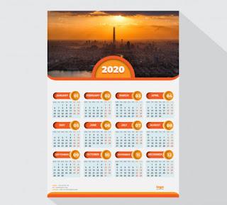 kalender 2020 dinding