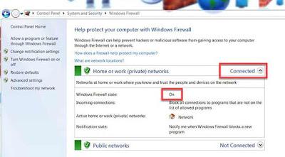 رابعا لا تنسى تفعيل جدار الحماية Firewall
