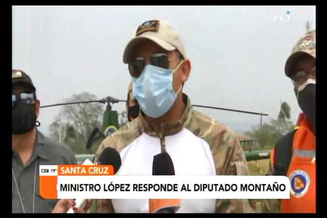 """Ministro López le pide a Montaño que deje de estar """"levantando la manito"""" en la Asamblea y se informe bien"""