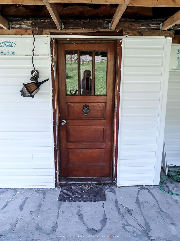 Fixer upper front door