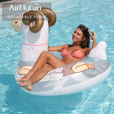 AirMyFun Inflatable Sheep Giant Pool Float