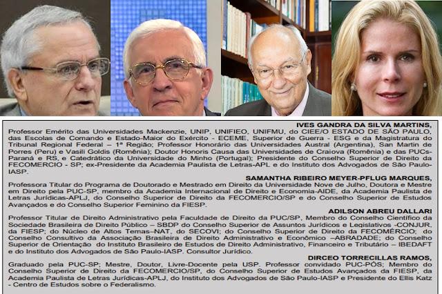 JURISTAS E DOUTORES DO DIREITO DESMONTAM ARMAÇÃO DA QUADRILHA CRIMINOSA QUE TENTA IMPEDIR O DESENVOLVIMENTO DO BRASIL