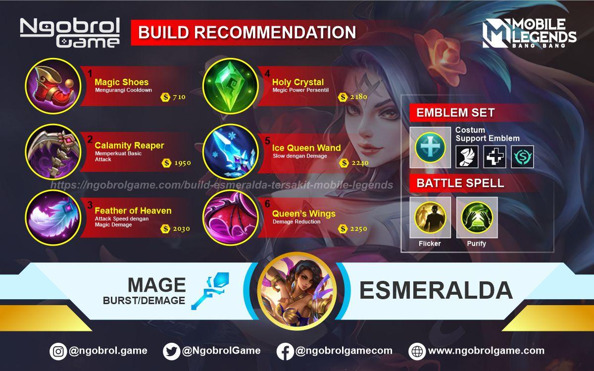 Build Esmeralda Tersakit 2021 Mobile Legends