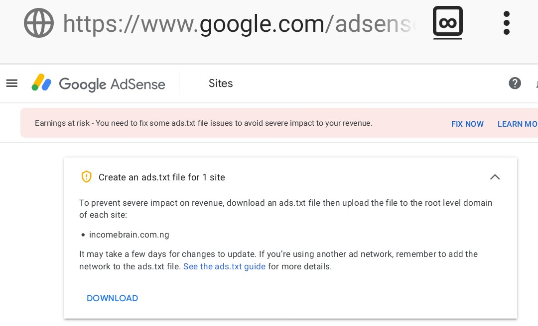 Steps To Fix Google Adsense ads.txt file issues for your site