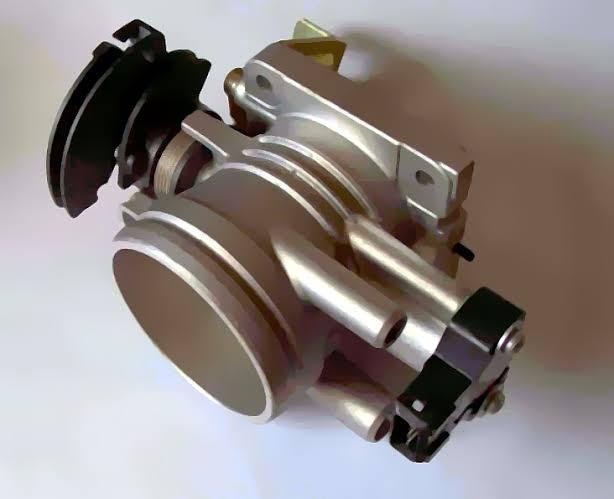 Throttle body houses the throttle position sensor
