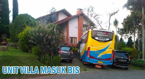 Sewa Villa Istana Bunga Bisa Bawa Bus