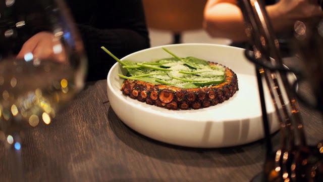 Tuljak octopus risotto - www.blancdeblancs.fi