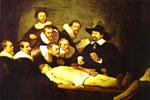 Lección de anatomía, del pintor barroco holandés Rembrandt