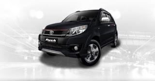 Harga Toyota Rush di Pontianak Warna Black Mica Metallic