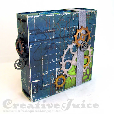 Lisa Hoel for Eileen Hull - 2021 Chapter 1 releases! Robot journal using the new Folio Journal Die. #creativejuicefreshsqueezed #eileenhull #mymakingstory #tim_holtz