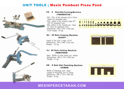 pisau pond unit tools