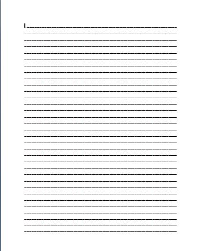 ELEMENTARY SCHOOL ENRICHMENT ACTIVITIES LINED PAPER - lined page