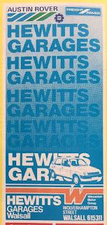 Hewitts Walsall1 Football Program advert